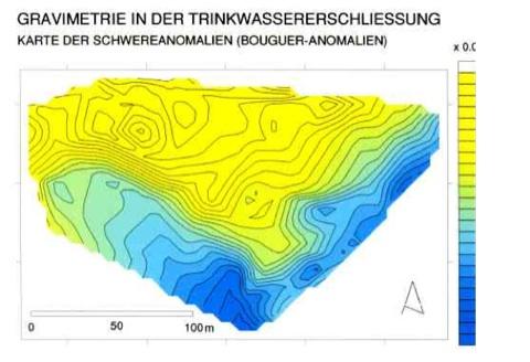 Trinkwassererschließung Gravimetrie Lockergestein Rheinkiese Ergiebigkeit