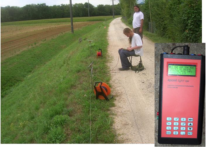Kanaldamm Sicherheitsprüfung Geophysik Electrical Imaging