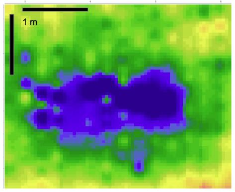 Bodenradar Georadar KIrchenboden Tiefenschnitt Reflektivitäten